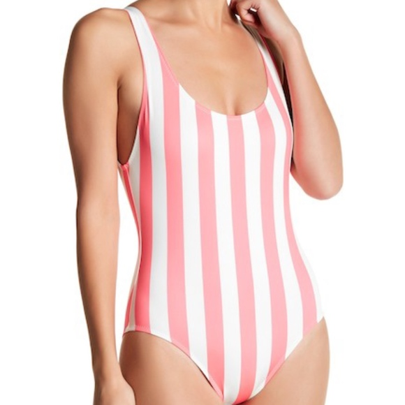 8c497b5f379cf Solid + Striped Anne-Marie Striped One-Piece